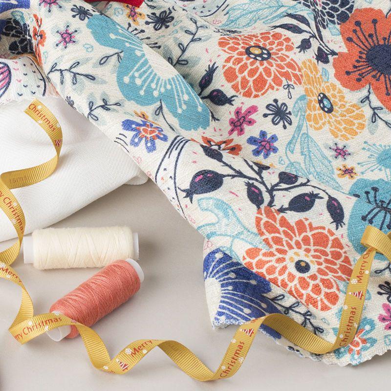 Dobby weave fabric printing