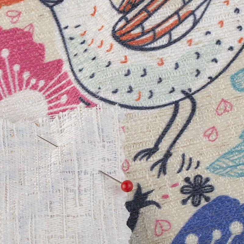 custom weave linen cotton blend fabric