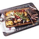 serviertablett bedruckt mit design essen und spruch