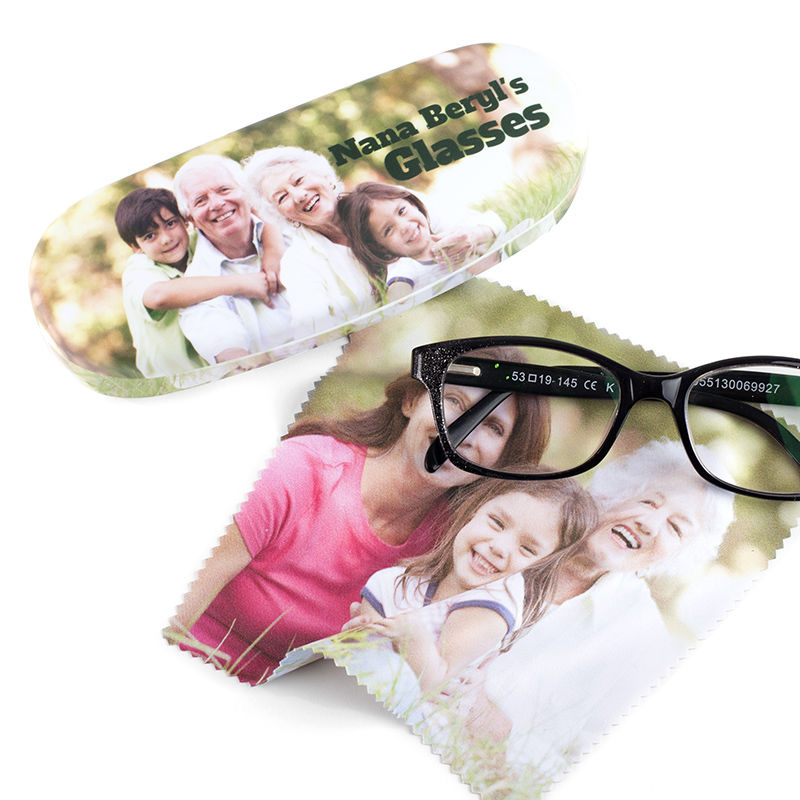 Photo Birthday Eyeglass Case /& Cloth Personalized