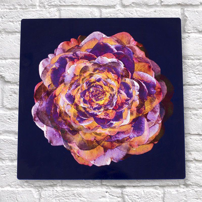 Plaque en métal personnalisée avec dessin de fleur