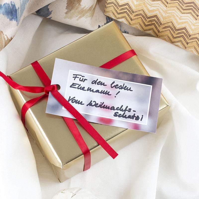 Geschenk Etiketten selbst gestalten | Foto Etiketten im 20er Pack