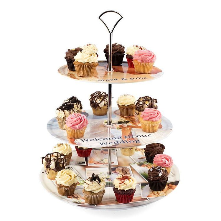 Présentoir gateau avec cupcakes