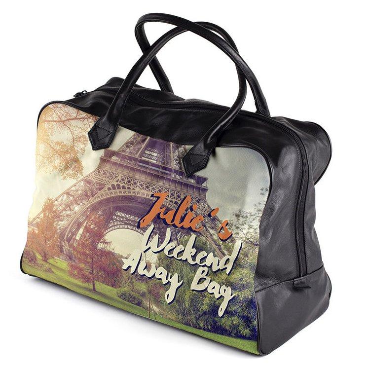 personalised weekend bag