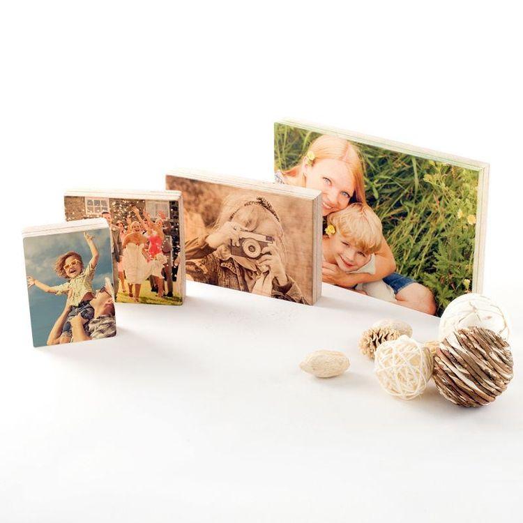 foto afdrukken op hout in verschillende formaten