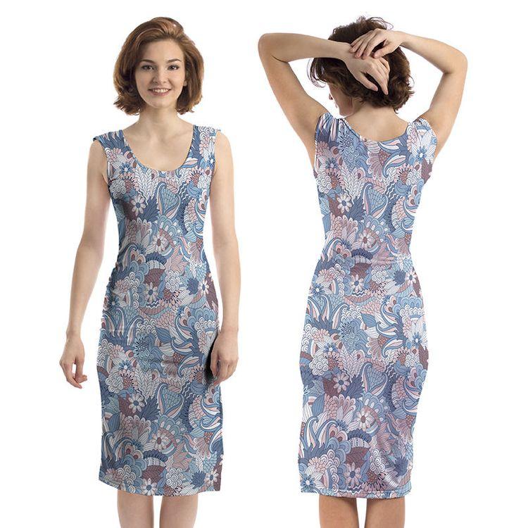 gepersonaliseerde bodycon jurk voor en achterkant