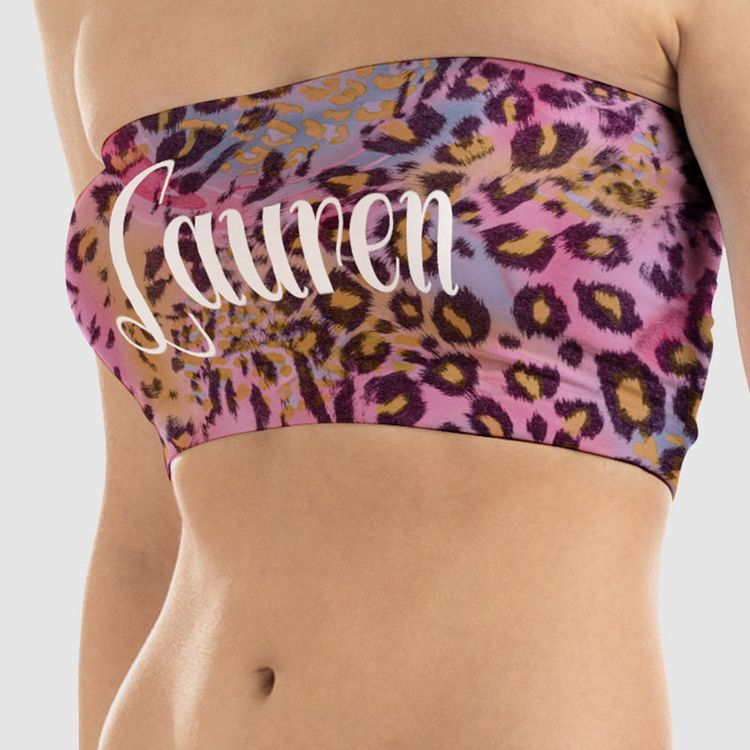 boob tube tops custom printed with name