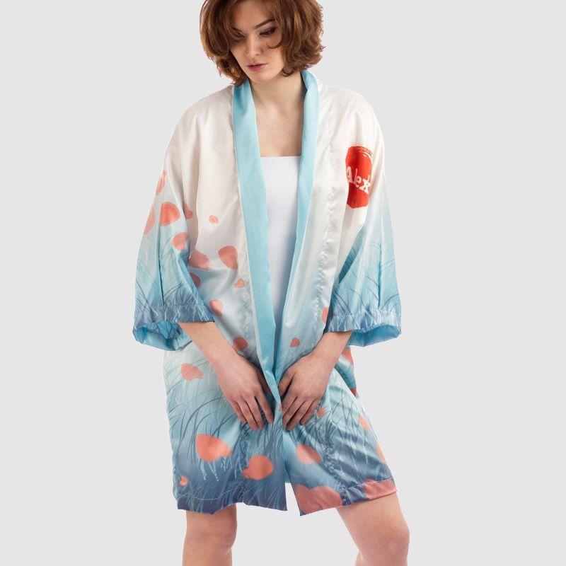 personalisierter Morgenmantel kimono