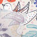 Äkta siden med textiltryck