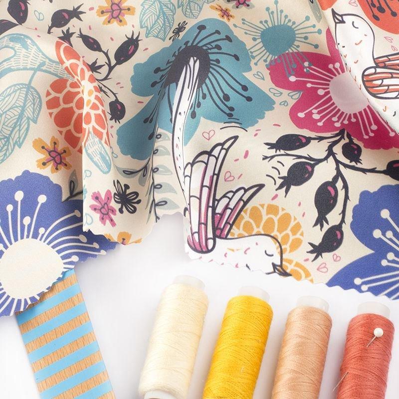 Silk Satin Fabric Printing
