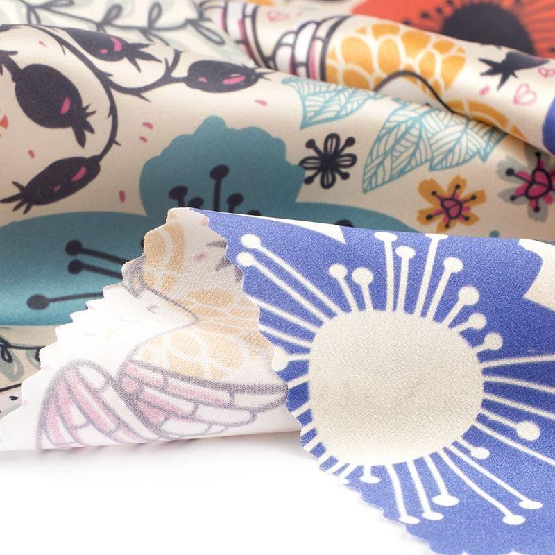 custom Silk Satin fabric printing