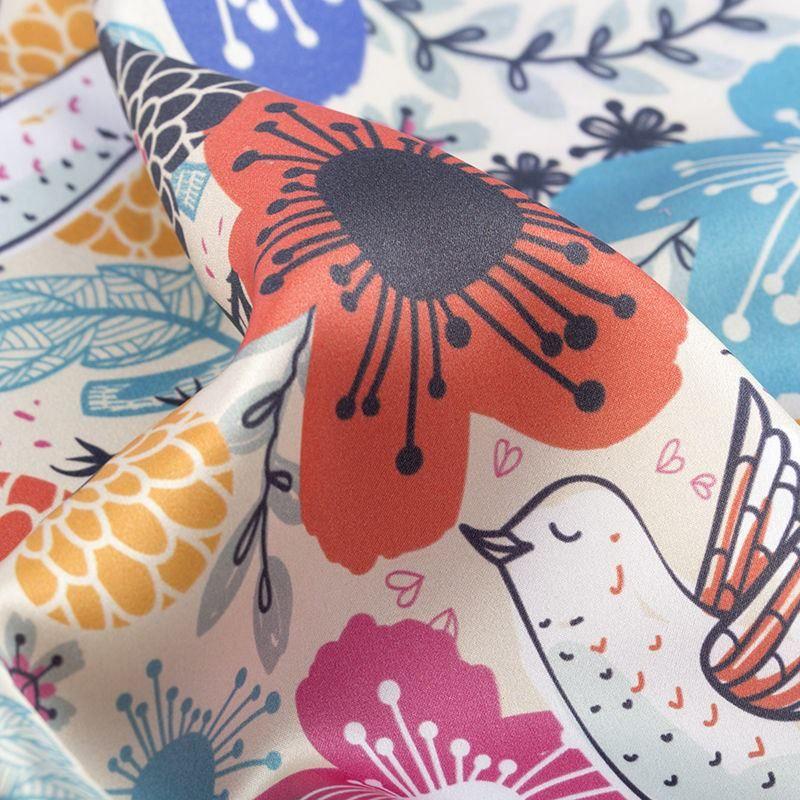 Printing on Silk Satin Fabric Samples