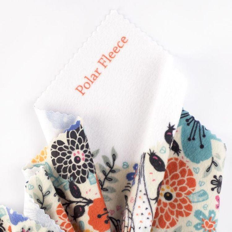 Printed Polar fleece fabric