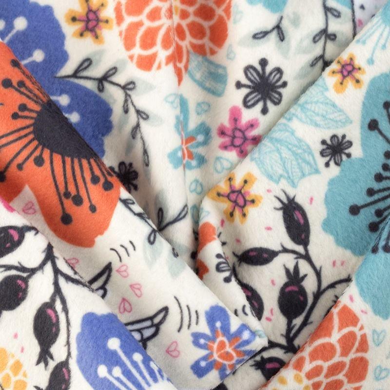 Polar Fleece Fabric Printing soft feels