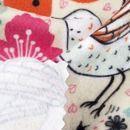 digital vlies bedrucken lassen details Vogel