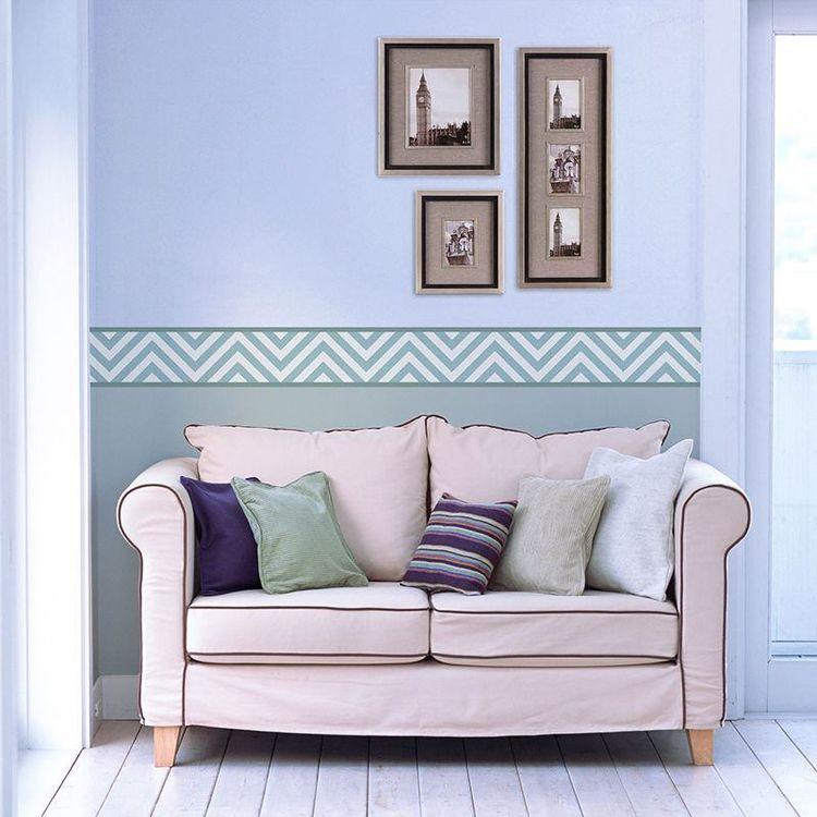 wallpaper borders lounge design