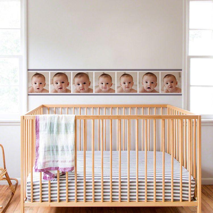 gepersonaliseerde behangrand babykamer