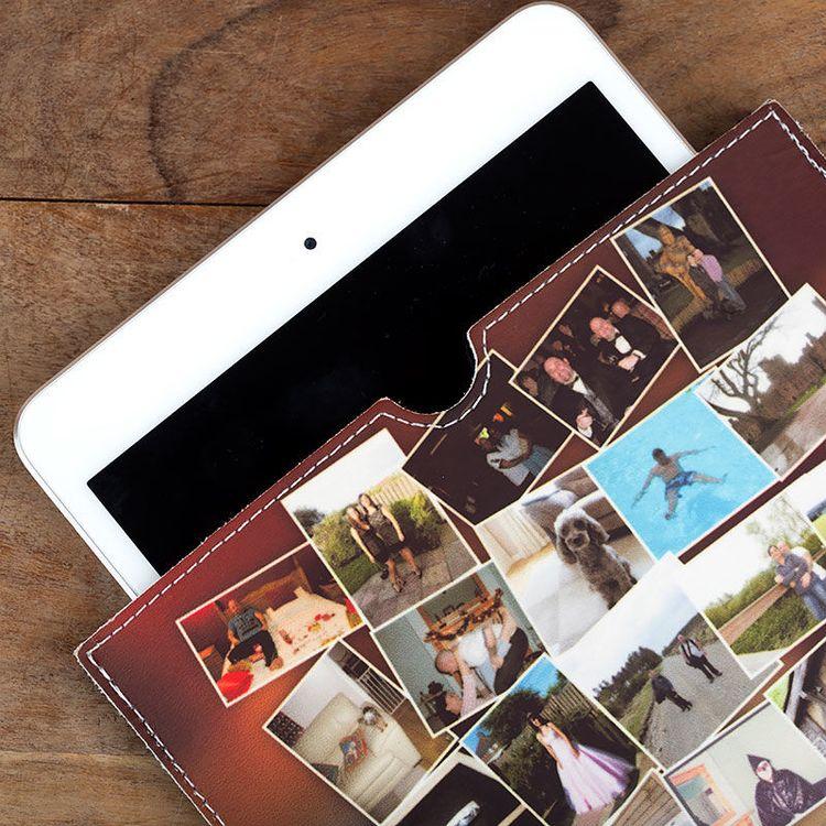 Tablet in gepersonaliseerde leren iPad case