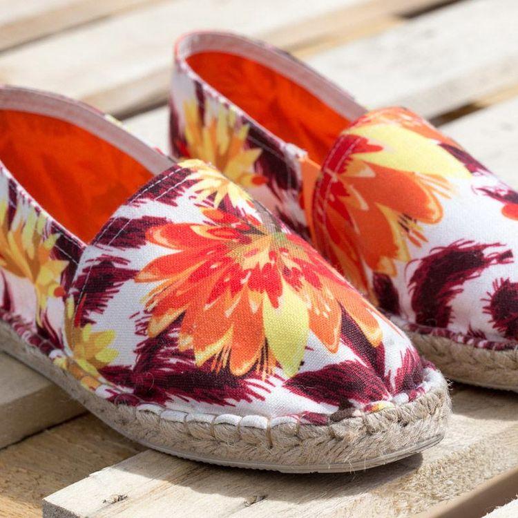floral print custom espadrilles