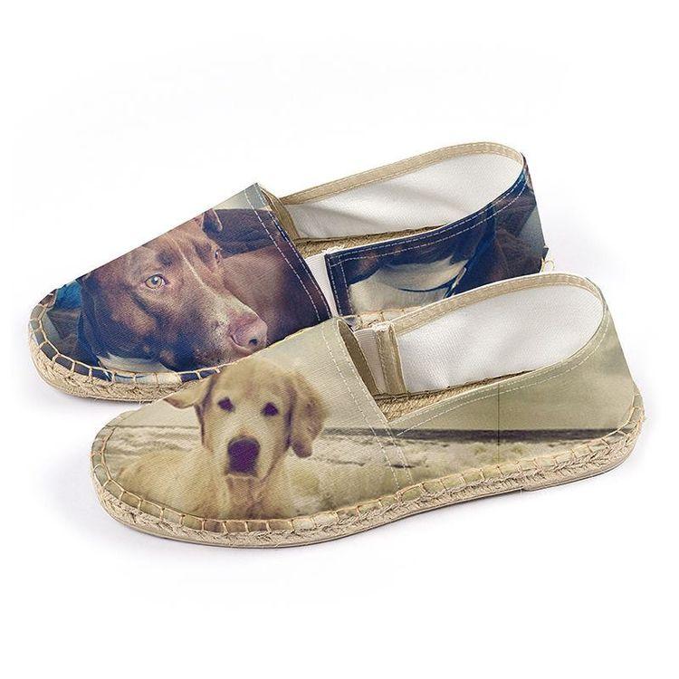 espadrilles personnalisées photo chien