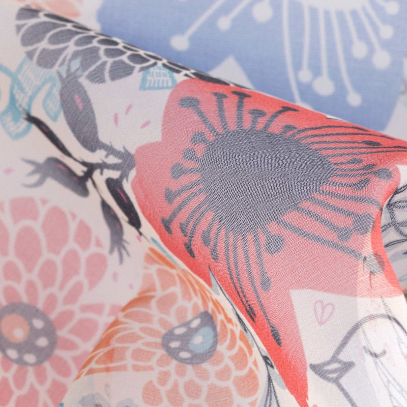 printing Organza fabric
