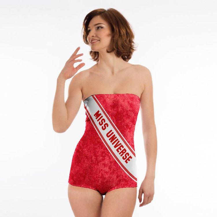 Personalised Swimsuit printed sash