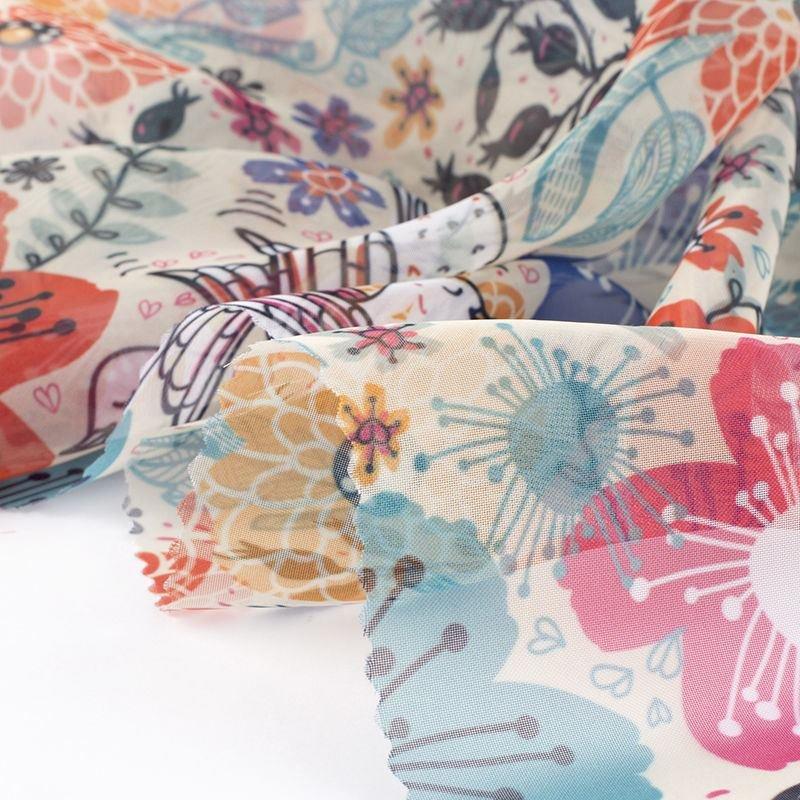 custom print Voile fabric small run
