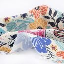 custom Gaia Eco Woven fabric printing fold close up recycled