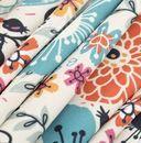 sample print on Slinky Matt Lycra fabric pleated folds