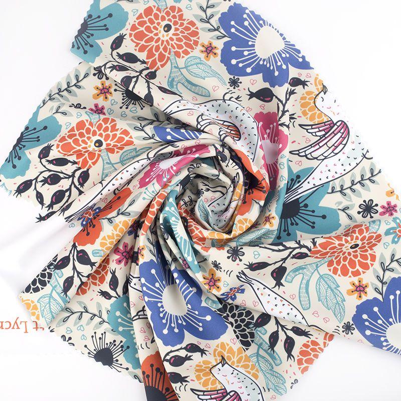 Printing on matt lycra fabric Elastane spandex swirl