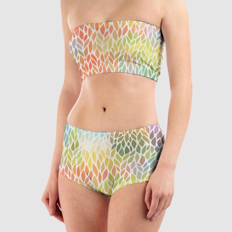 personalised dance shorts with matching bandaeu