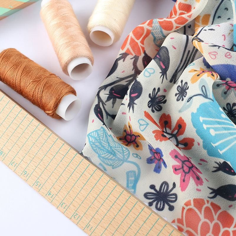 Impresión textil en tela georgette
