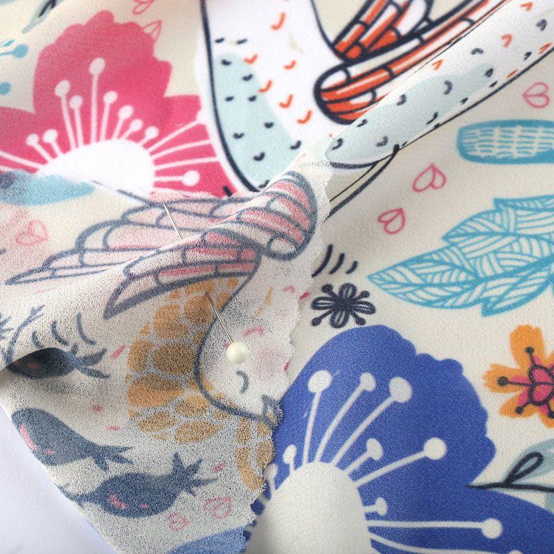 close-up Georgette print details