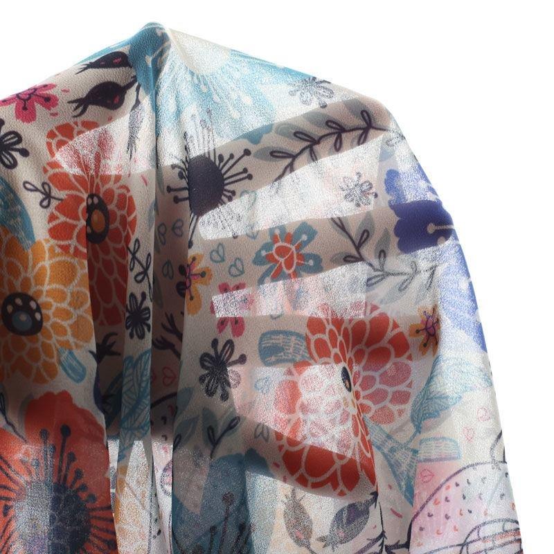 stampa seta georgette per abbigliamento