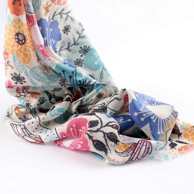 Magnifique drapé du tissu mousseline mulmul