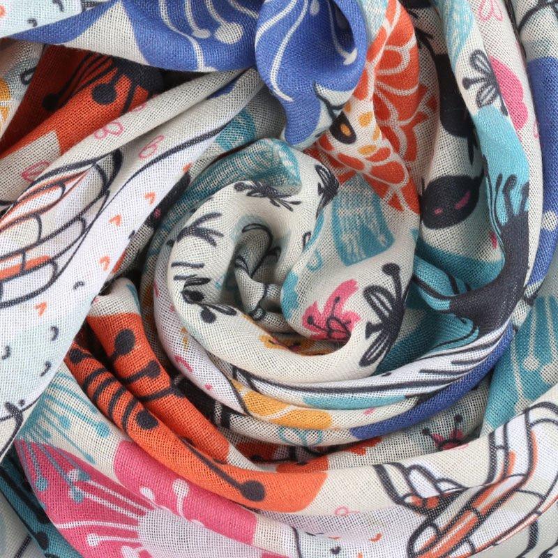 Votre design sur le tissu mousseline