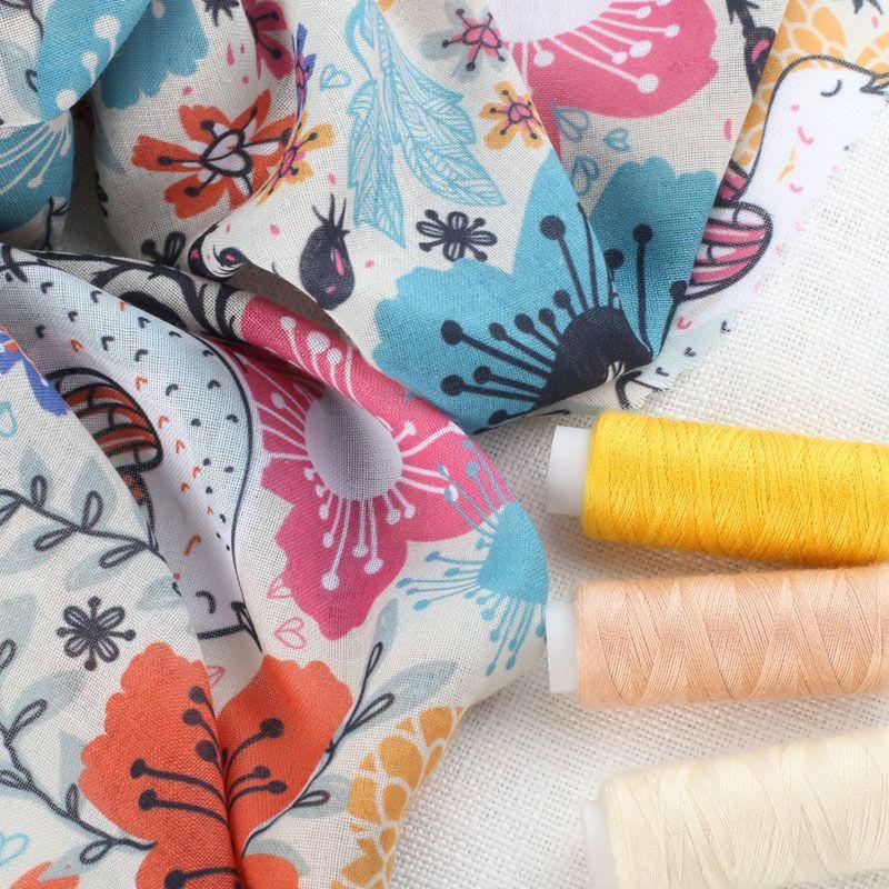 custom printed woven fabric