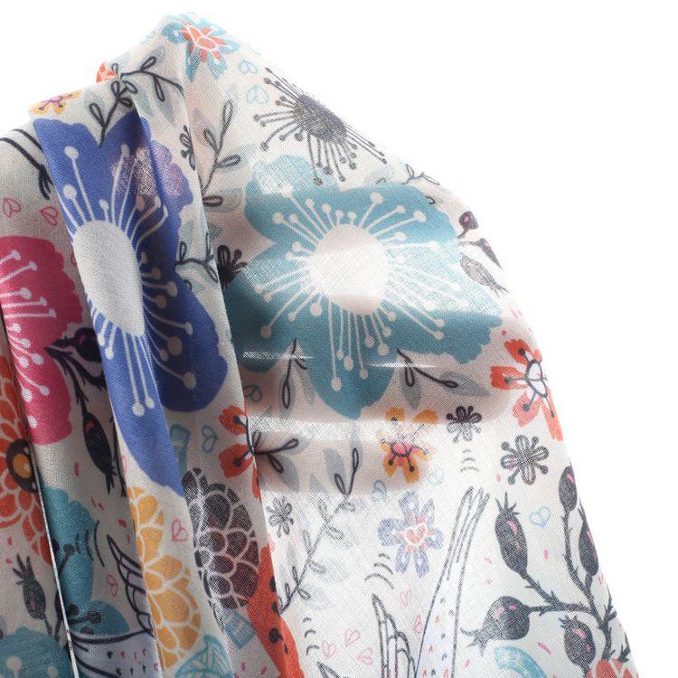 printed muslin fabric
