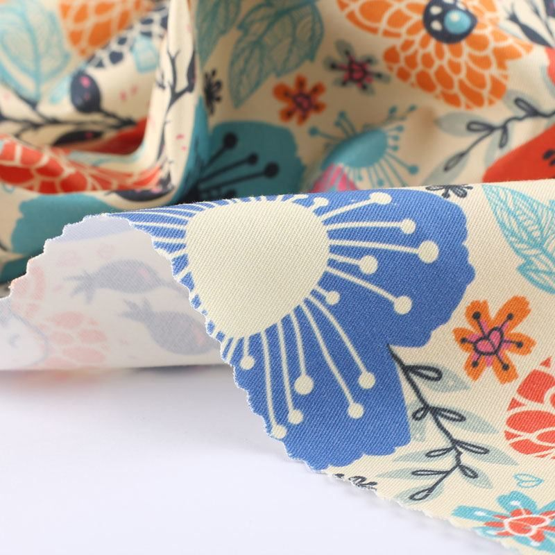 custom cotton twill prints edge