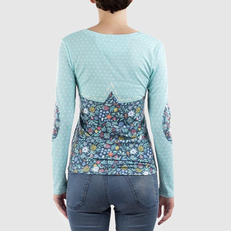 t-shirt manches longues femme vu de dos