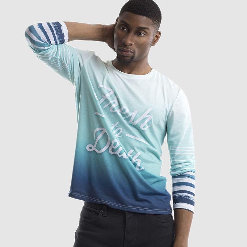 9c262d7b Men's Custom Long Sleeve T-Shirt UK. Cut & Sew Long Sleeve T