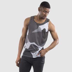 cut & sew vest top for men