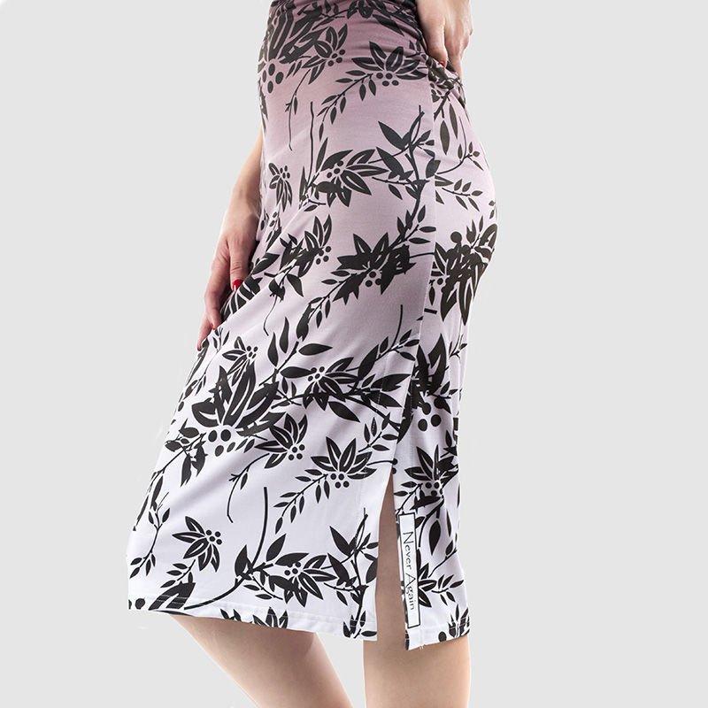 gepersonaliseerde bodycon jurk met print