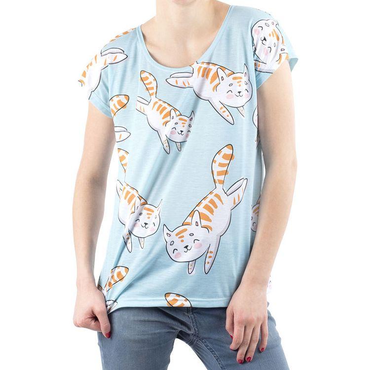 gepersonaliseerde pyjama top bedrukt met kattenkop