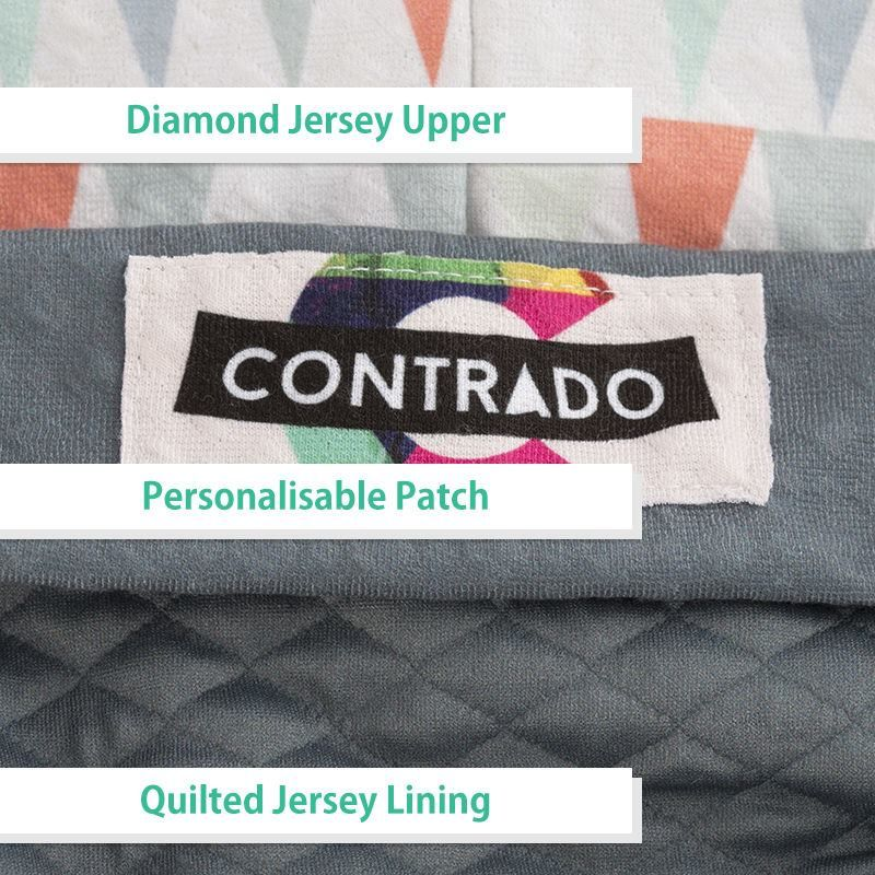 personalised beanie label detail