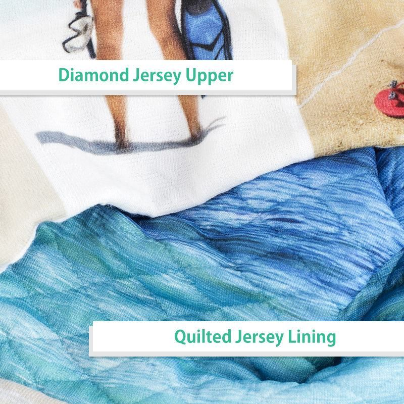 custom beanie hat fabric detail