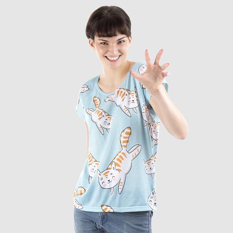 Slouchy Damen T-Shirt bedrucken