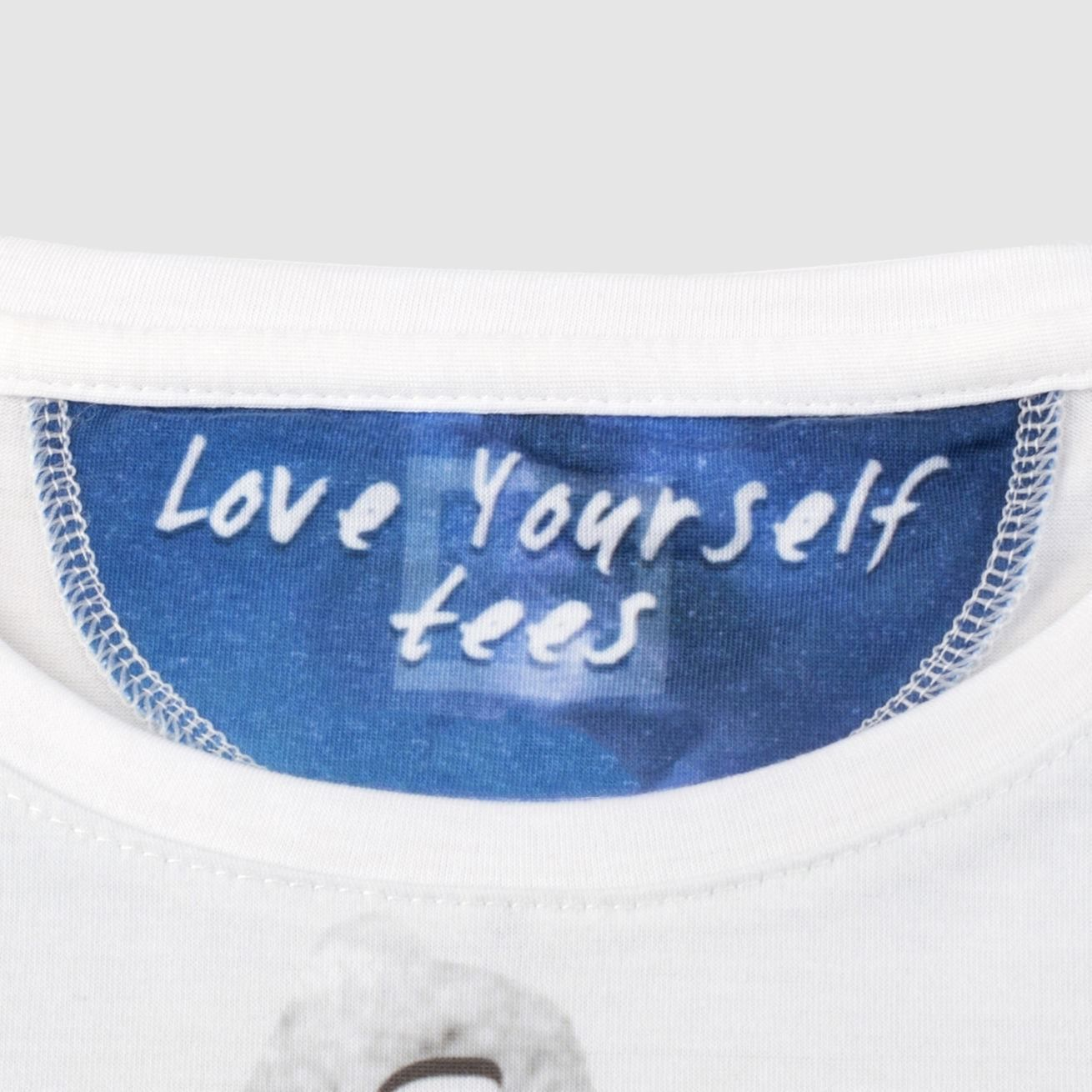 personalised t-shirt printing Label Detail