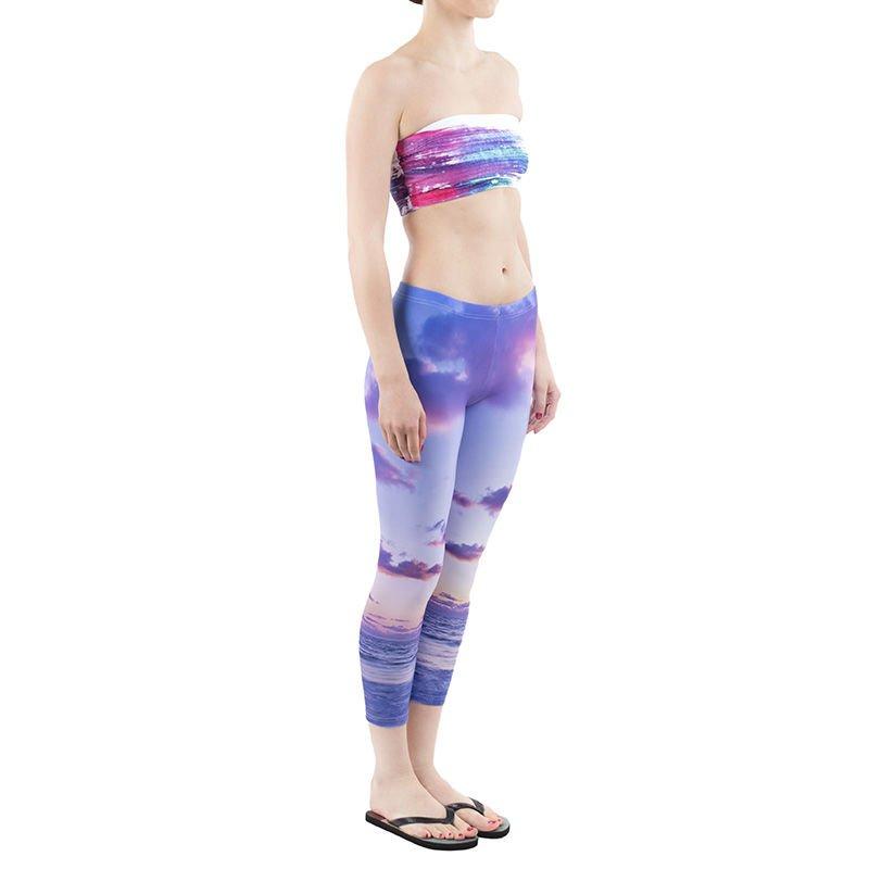 bandeau and matching leggings shot