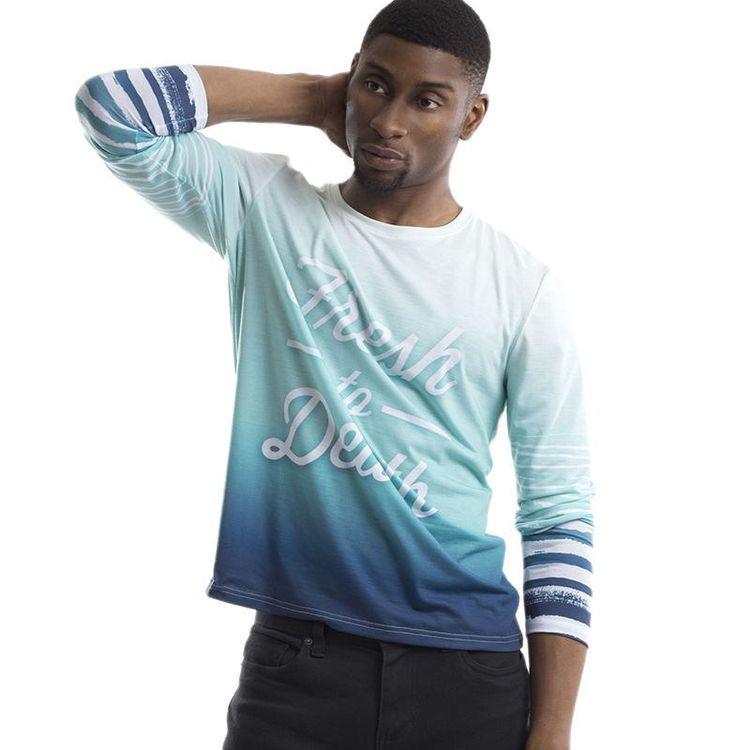 T-shirt manches longues photo océan